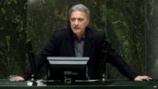 Mahmoud Nili-Ahmadabadi addresses the Iranian parliament