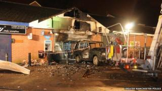 Land Rover Discovery set on fire at the Co-op in Maple Road, Sale