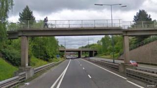 M67 eastbound bridge