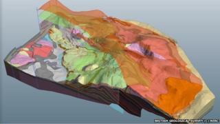 3D model of Assynt geology