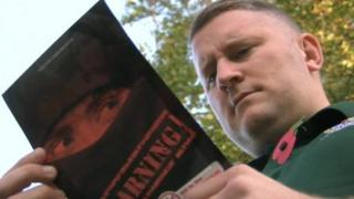 Paul Golding from Britain First