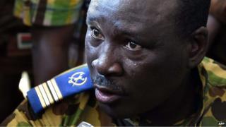 Col Isaac Zida in Ouagadougou, 31 October 2014