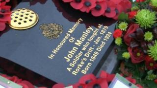 John Manley's grave in Carlton