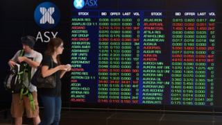 People outside the Australian stock exchange