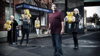 Pat, Kathy, Lucy, Ian and Michelle in EastEnders special