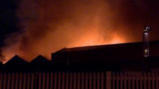 fire on Birley Street, Blackburn
