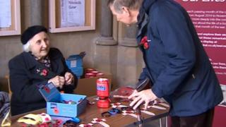 Olive Cooke selling poppies