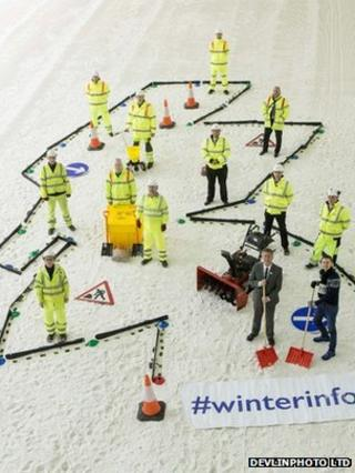 Keith Brown and winterinfo hashtag
