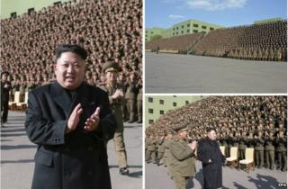 Photos of Kim Jong-un released by KCNA on 5 November 2014