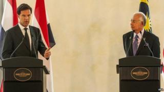 Dutch Prime Minister meets with his Malaysian counterpart Najib Razak