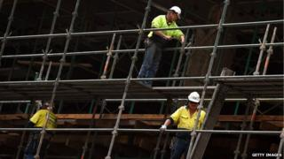 Workers at a Sydney construction site, August 2014