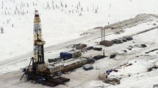 A Rosneft oil derrick in Siberia - file pic