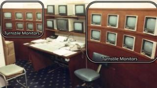 CCTV monitors at Hillsborough