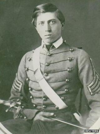 US Army First Lieutenant Alonzo Cushing in a photograph dated 1861