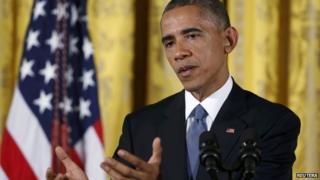 US President Barack Obama appeared in Washington on 5 November 2014