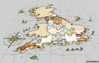 Map of UK jigsaw