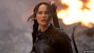 Jennifer Lawrence in The Hunger Games: Mockingjay - Part 1