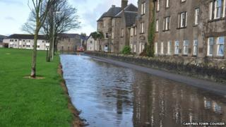 Flooding in Campbeltown