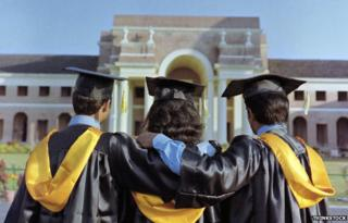 Stock photo of students in gowns