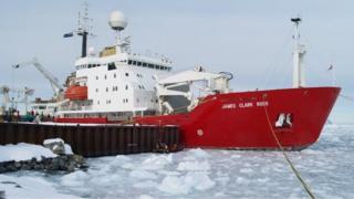 Ship in Antarctic
