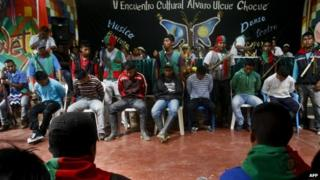 Trial of Farc members in Toribio, Colombia. 9 Nov 2014