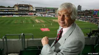 Richie Benaud at an Ashes Test match between England and Australia at the Brit Oval - 11 September 2005