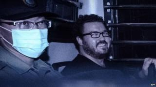 Rurik Jutting in a prison van on 10 November 2014