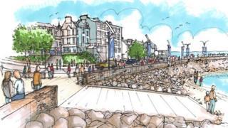 Artists impression of Gourock redevelopment