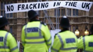 Anti-fracking demonstration