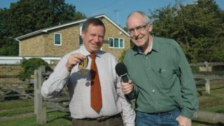 John Medhurst, left, with BBC Newcastle's Jon Harle
