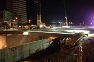 New bridge site on Monday evening
