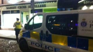 Police at scene of Yarm robbery