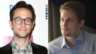 Joseph Gordon-Levitt and Edward Snowden