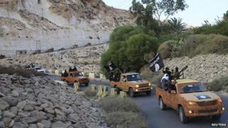 Islamist militants in Derna, Oct 2014