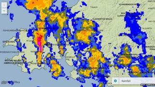 UK rainfall map