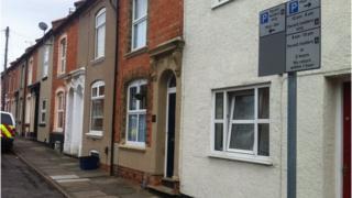 Northampton street where a parking scheme operates