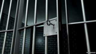 Prison door opened