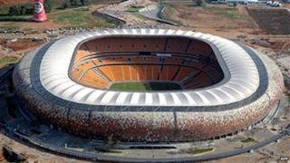 Soccer City in Johannesburg