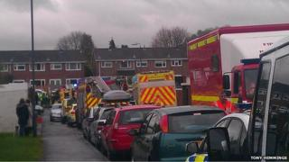Scene of the deaths in Yate