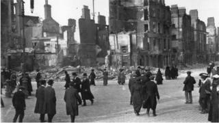 Dublin: a scene of devastation during the 1916 Easter Rising