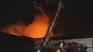 Fire at factory