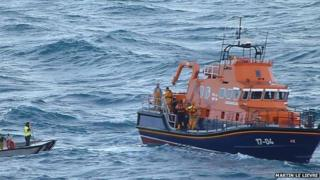 Guernsey lifeboat off island's south coast involved in rescue