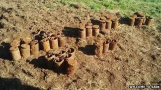 Unexploded landmines