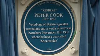 Peter Cook blue plaque