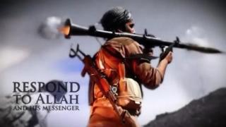 A man fires a RPG in this still image taken from an undated recruitment video for the Islamic State in Iraq and the Levant (ISIL) shot at an unknown location and uploaded to a social media website on 19 June 2014.