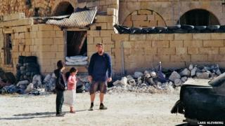 Filming 'Syria Hero Boy' on set in Malta in May 2014