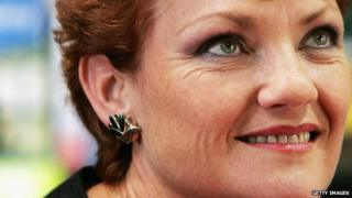 Pauline Hanson Signs Autobiography in Melbourne in April 2007