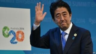 Chinese papers say Mr Abe's economic policies have failed