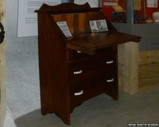 Jack Clemo's restored writing desk. Pic: Wheal Martyn Museum