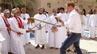 Prince Harry fencing